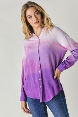 Ombree Button Up Top!  3X to S!!  Love these colors!!