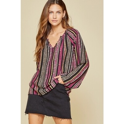 Balloon Sleeve Classic Blouse  3X to S!