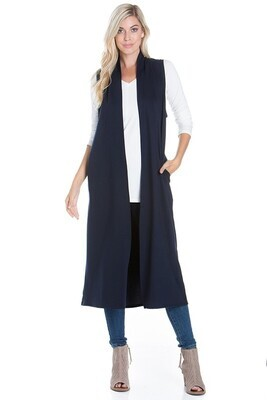 Long Vest with Pockets