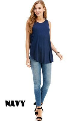 Casual Sleeveless Top - 3X to S!!  Multi Colors!!