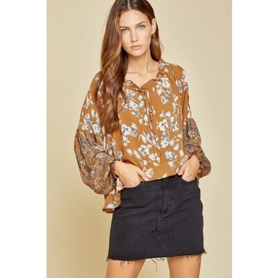 Floral Blouse 2X, 3X and L Only Left!!!