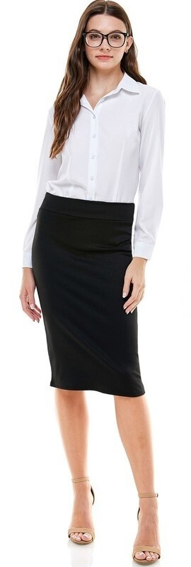 High Waisted Black Pencil Skirt 3X to Small!