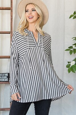 Striped Hoodie - L to S!