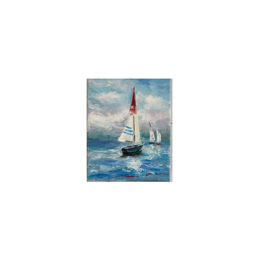 Red, White & Blue Sailboat Canvas