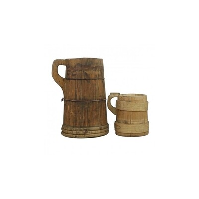 Found Water Pitcher Large 12.5
