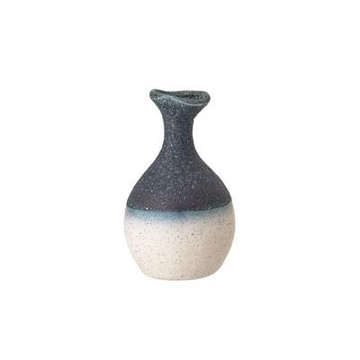 Blue Stoneware Bud Vase