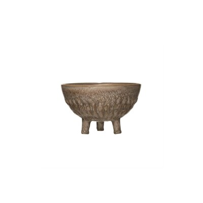 Etched Footed Pot