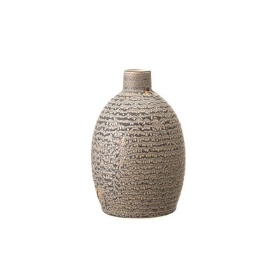 Rippled Grey Vase