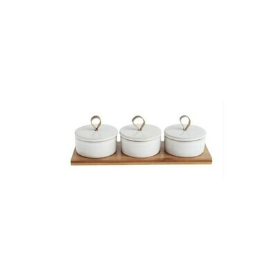 Set of 3 Marble Pinch Pots