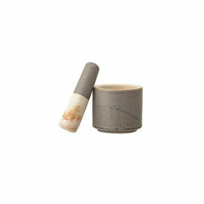 Stoneware Mortar + Pestle