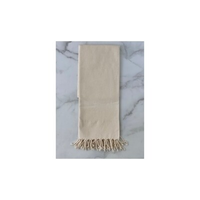 Herringbone Turkish Bath Towel - Cream
