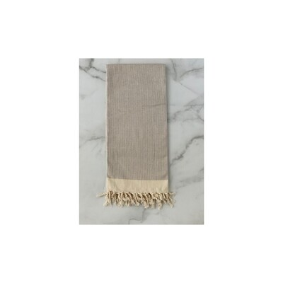 Candy Cane Taupe Turkish Bath Towel