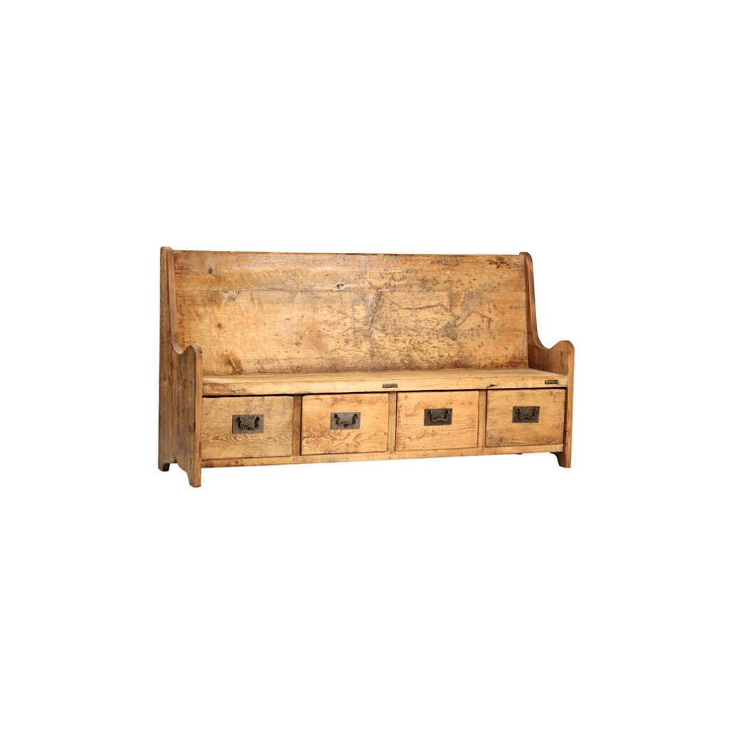 Carson Bench with Drawers
