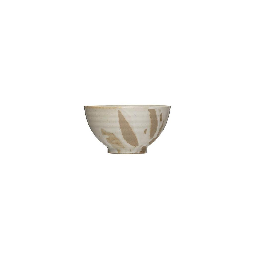 White Drip Rice Bowl