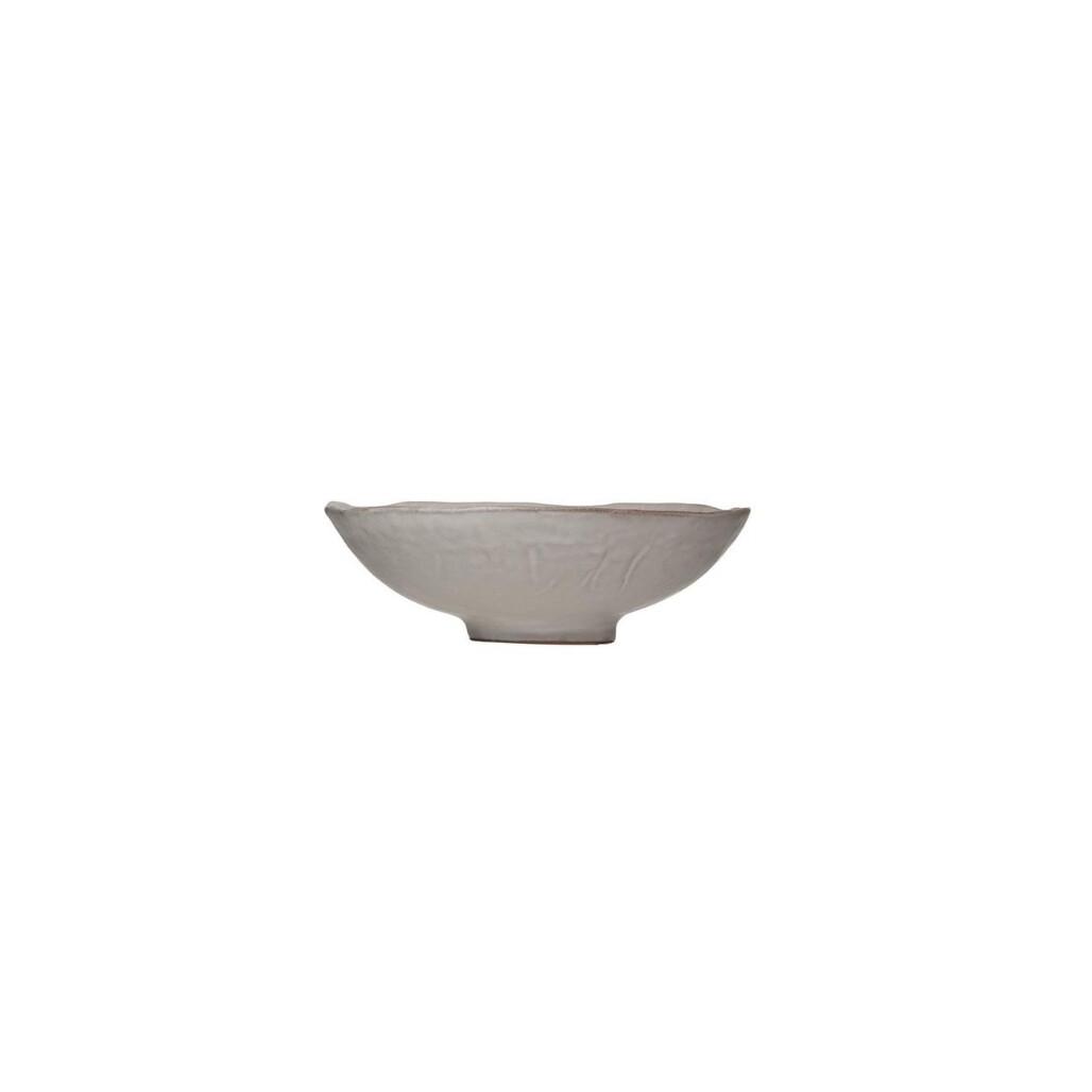 Matte Gray Stoneware Bowl