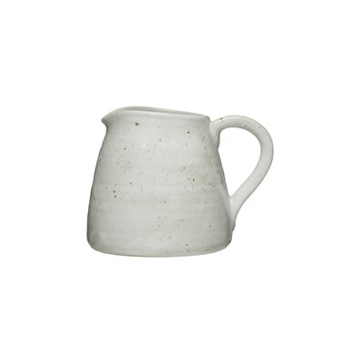 Matte Cream Stone Pitcher