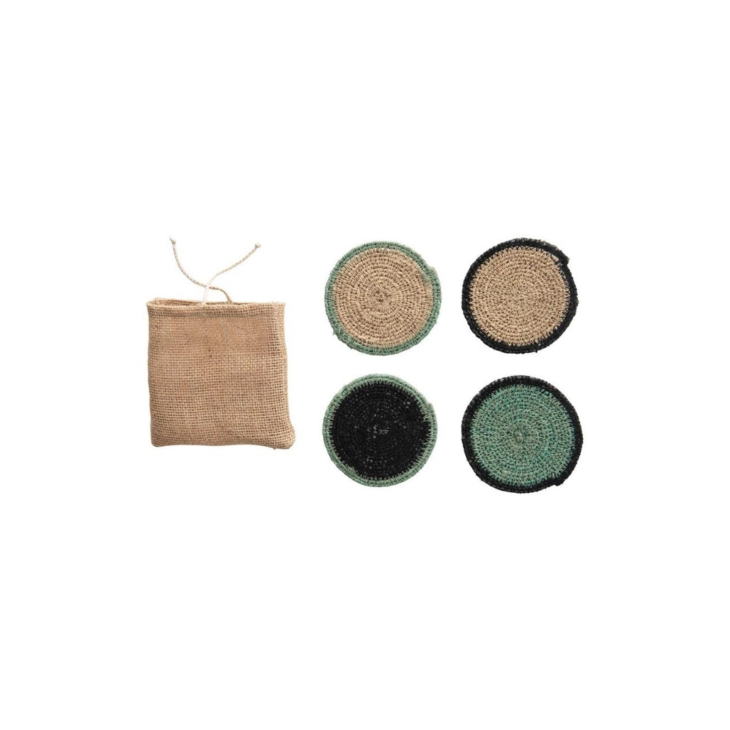 Set of 4 Natural Seagrass Coasters