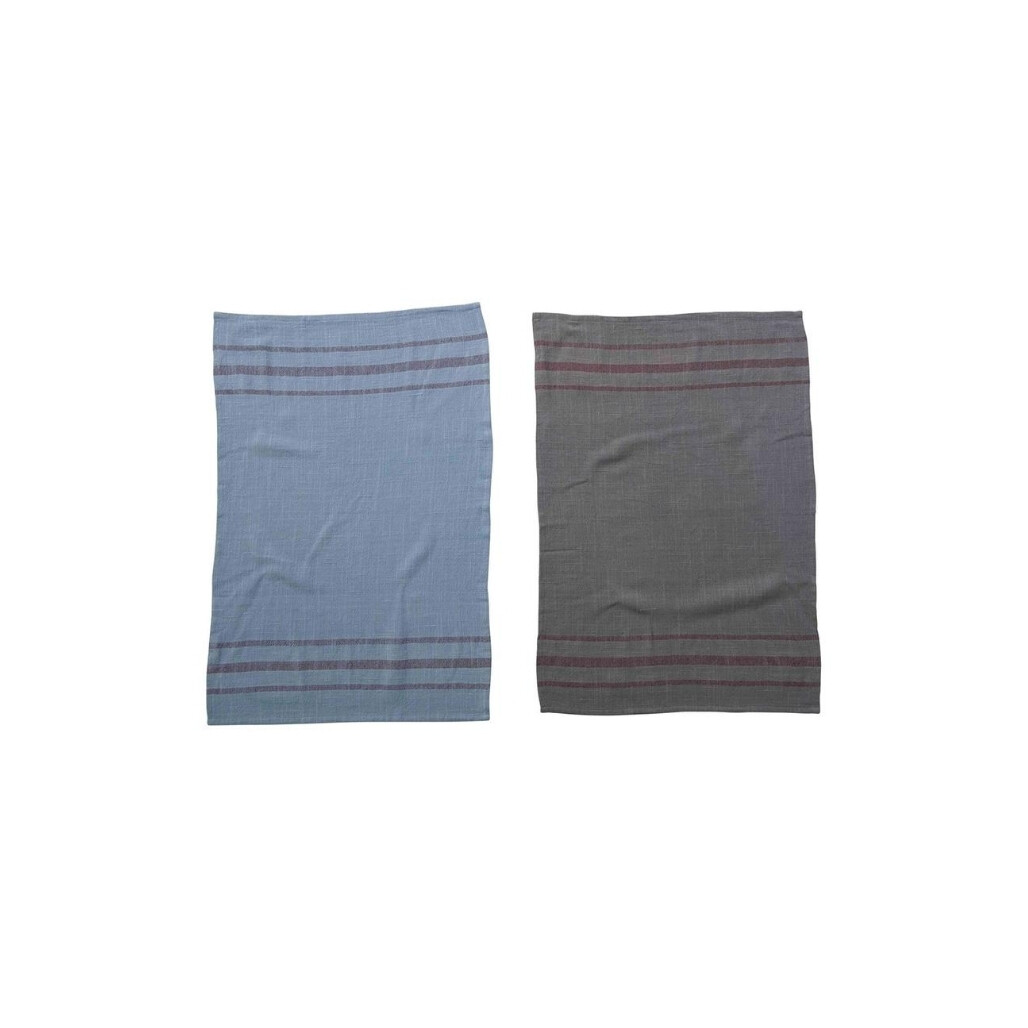 Over dyed Striped Cotton Tea Towel