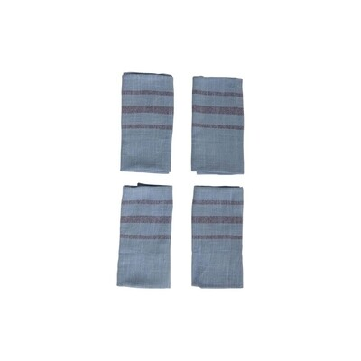 Set of 2 Over Dyed Blue Cotton Tea Towels