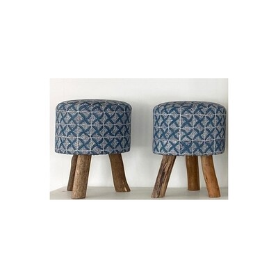 Upholstered Cream Upholstered Stool