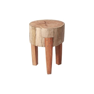 Attico Large Wood Stool