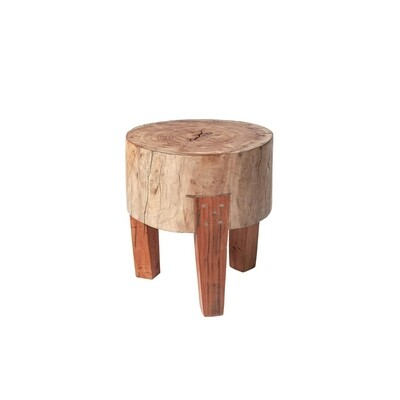 Attico Medium Wood Stool