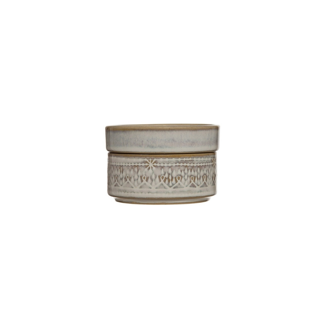 Small Etched Stackable Jar