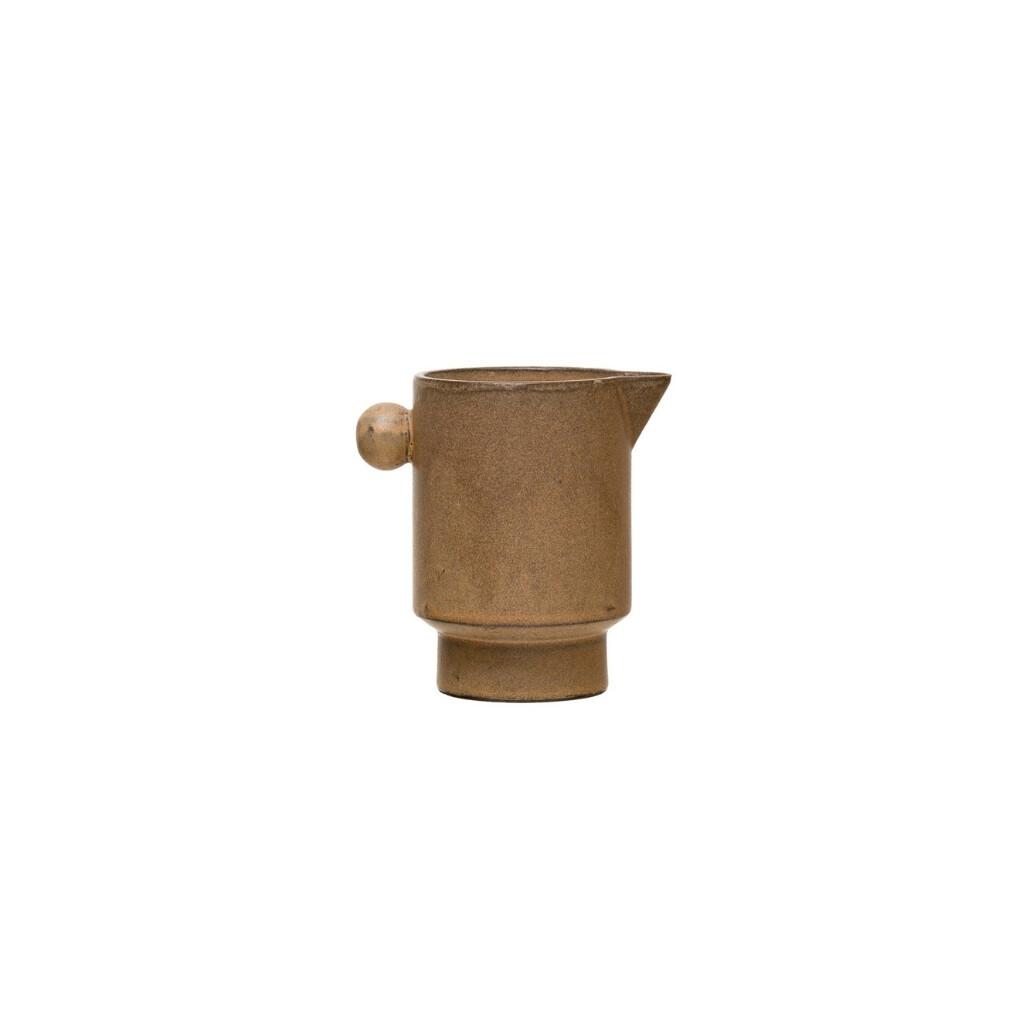 Stoneware Pitcher w/ Round Knob 16oz