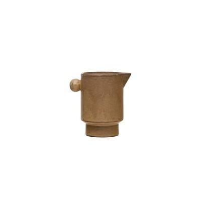 Stoneware Pitcher w/ Round Knob