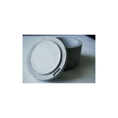 Concrete Canister With Lid - S