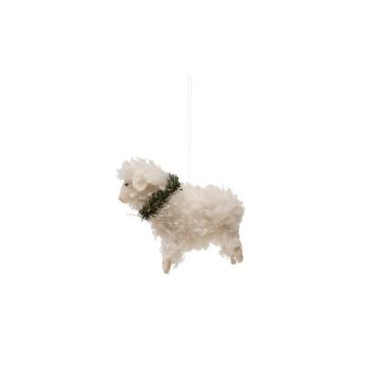 Wool Sheep Ornament