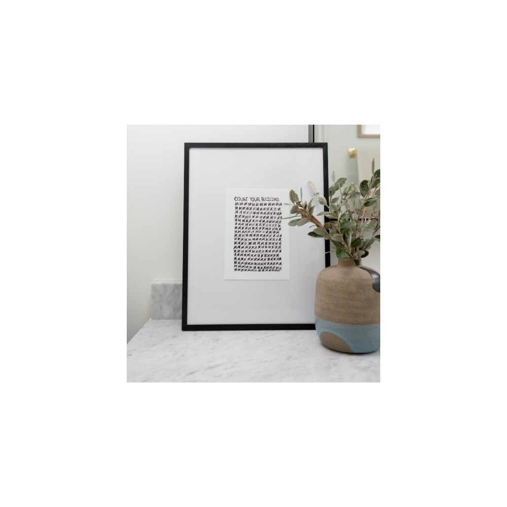 Count Your Blessings Framed Reminder