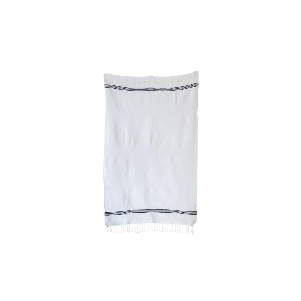 Cotton Fringe Bath Towel - Black & White