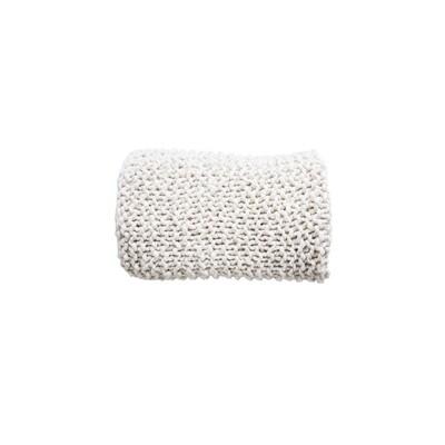 Cream Chunky Knit Throw Blanket
