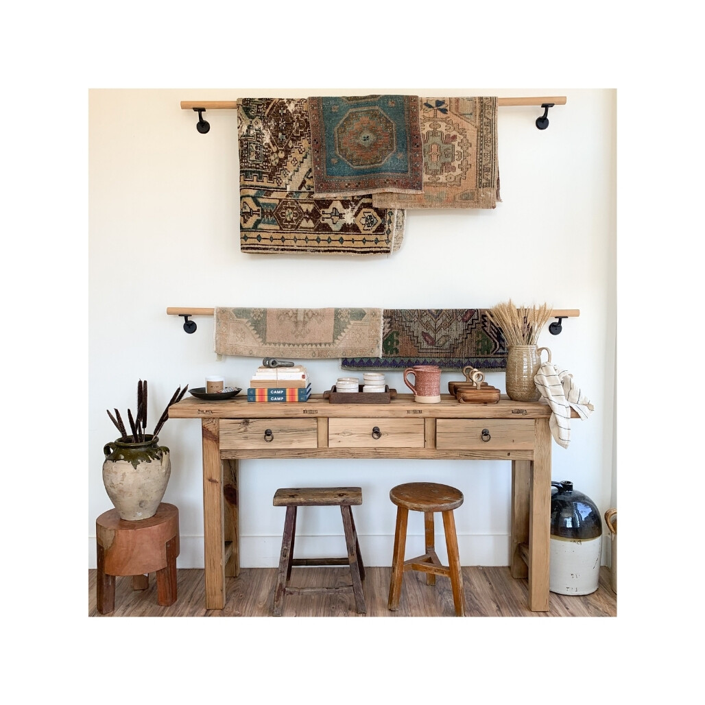 Hermosa Three Drawer Console Table