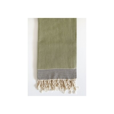 Sage Dot Weave Turkish Bath Towel