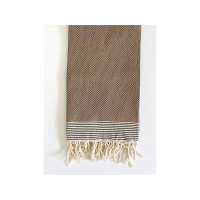 Espresso Dot Weave Turkish Bath Towel