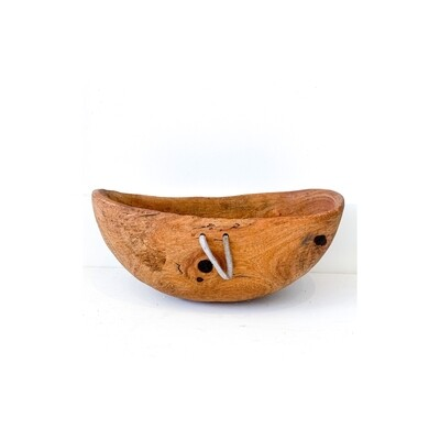 Antique Hand-Carved Wood Bowl