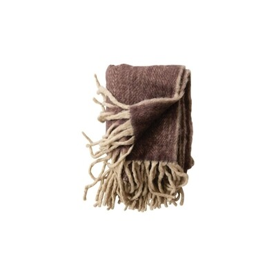 Plum Fringe Throw Blanket