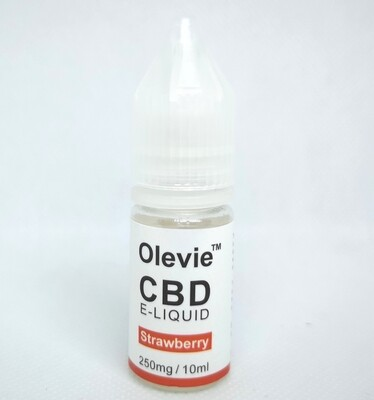CBD Vape 250mg 10ml Isolate Strawberry Aid