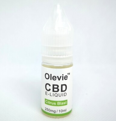 CBD Vape 250mg 10ml Isolate Citrus Blast