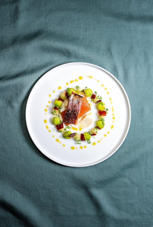 Forelle, Apfel, Sellerie - Food Fotografie