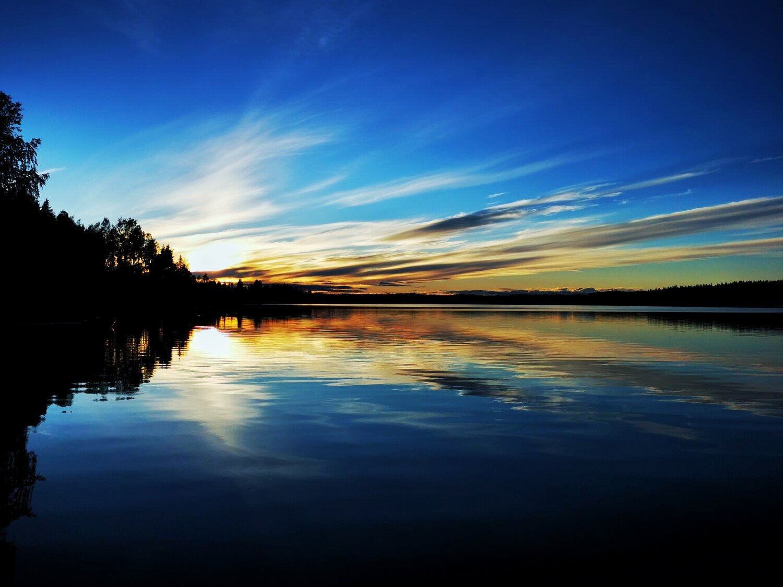 Farbvoller Sonnenaufgang