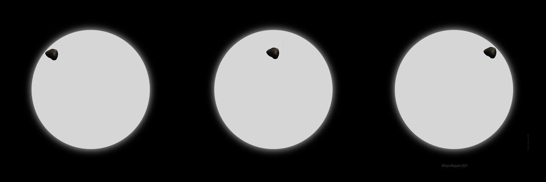 Mars Sonnenfinsternis: Deimos (Ein Satz von 3)