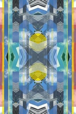 Fotografische Komposition und Symmetrie von Miami Architektur. Architektur ist Teil des Himmels der Stadt.