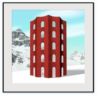 The Red Tower, Julier Pass, St. Moritz