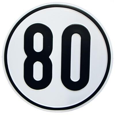Geschwindigkeitsschild 80 km/h