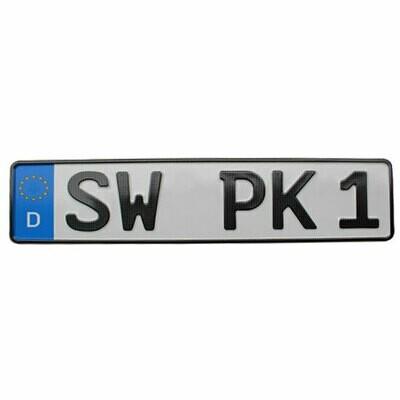 Autokennzeichen - amtliches Eurokennzeichen