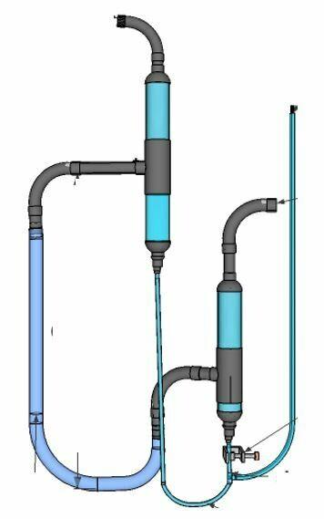 Pneumatisches Ventil für Zweistufige Biogasanlage mit 30% mehr Leistung. Bereits vormontiert und zum sofortigen Einbau vorbereitet