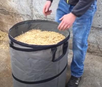 Von langem zu kurzen Stroh in der eigenen Herstellung, Strohmühle auf dem Weberhof